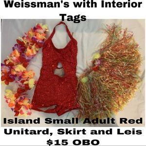 Weissmans Island Unitard, Skirt, and Leis